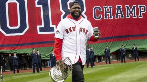 David Ortiz alert, smiling after second surgery in Boston