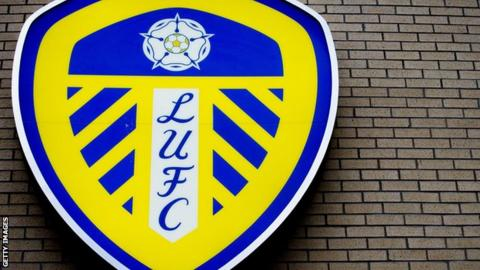 Leeds United badge at Elland Road