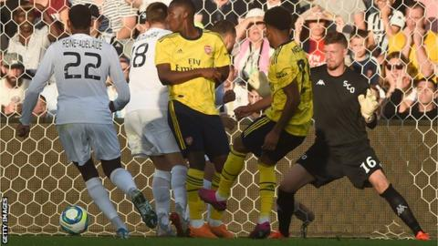 Reiss Nelson scores for Arsenal