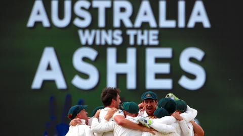 Australia win the Ashes