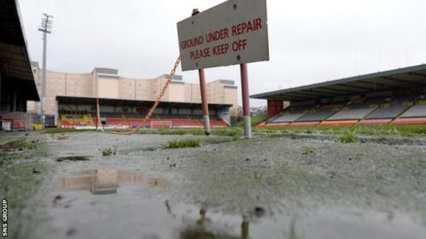 The game at Firhill is off
