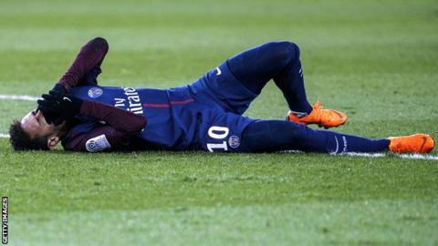 Neymar breaks leg, sprains ankle