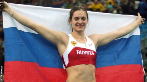 Double Olympic champion Yelena Isinbayeva says innocent athletes will be punished if the ban remains in place