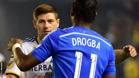 Steven Gerrard and Didier Drogba