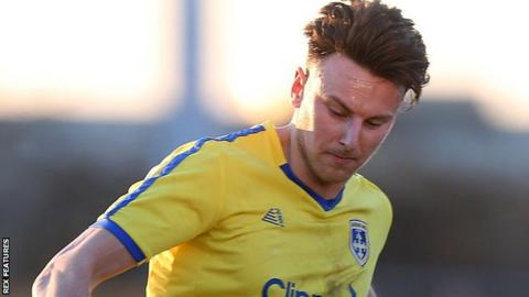 Jake Lawlor in action for Guiseley