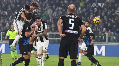 Juventus against Atalanta