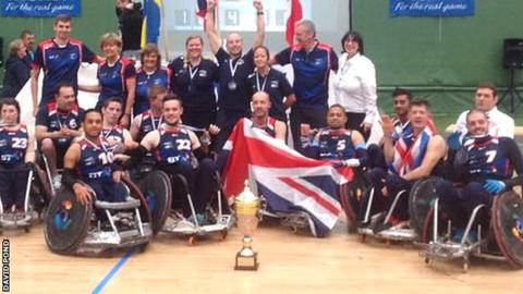 Great Britain celebrate their victory over Sweden