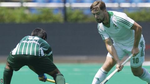 Alan Sothern scored Ireland's goal against Pakistan in the World League