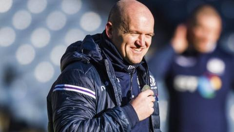 Gregor Townsend oversees Scotland's final training run on Friday