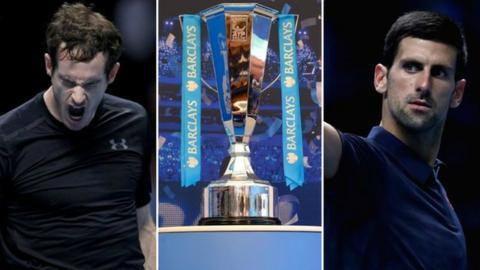 Andy Murray (left) and Novak Djokovic (right)