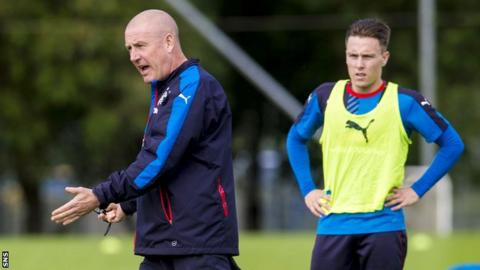 Rangers manager Mark Warburton still has a 100% record since taking charge