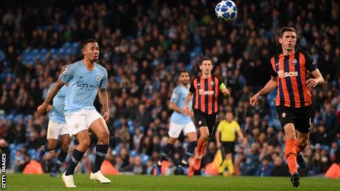 701933f00d8 Gabriel Jesus had not scored for Manchester City since 25 September before  his hat-trick against Shakhtar Donetsk
