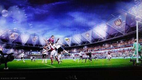 Artist's impression of West Ham at the Olympic Stadium