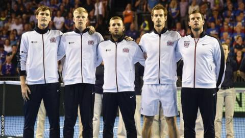 GB's last home appearance in the Davis Cup came in Glasgow in September 2016