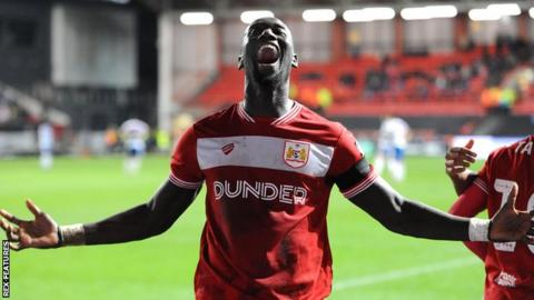 4c30ffaab Bristol City 2-1 Queens Park Rangers  Famara Diedhiou penalty wins ...