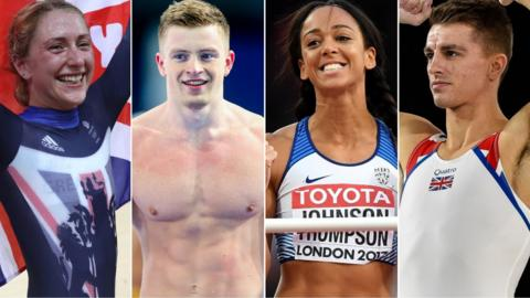 Laura Kenny, Adam Peaty, Katarina Johnson-Thompson and Max Whitlock