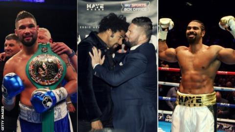 Tony Bellew and David Haye once sparred together but now share a public rivalry