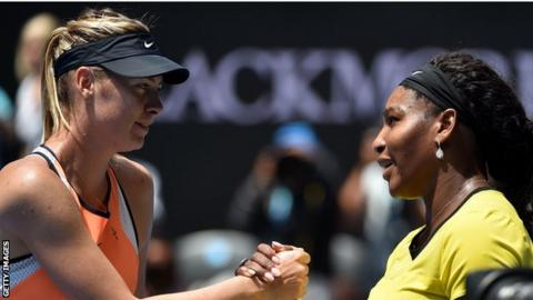 Maria Sharapova and Serena Williams