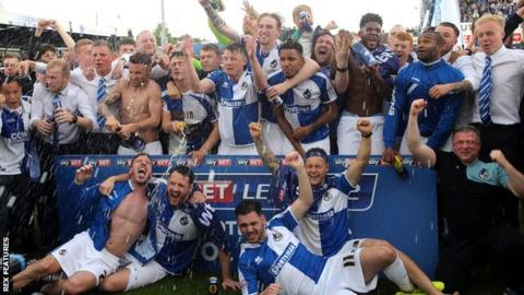 Bristol Rovers celebrate promotion