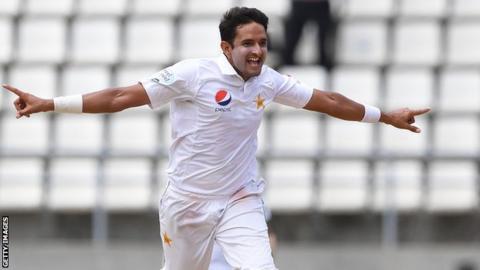 Pakistan bowler Mohammad Abbas
