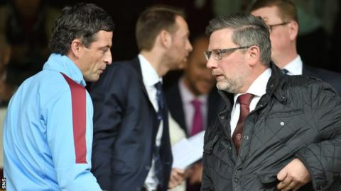 Jack Ross and Hearts director of football Craig Levein