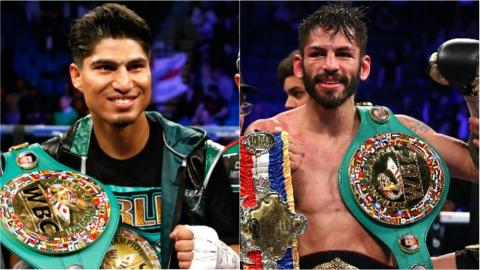 Garcia (left) has never lost, while Linares has three defeats in 46 fights