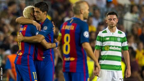 Celtic lost 7-0 to Barcelona on Tuesday