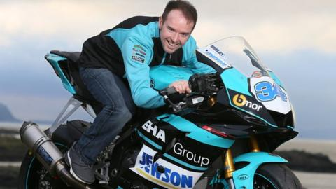 Alastair Seeley gets a feel of Yamaha R6 in the colours of EHA Racing