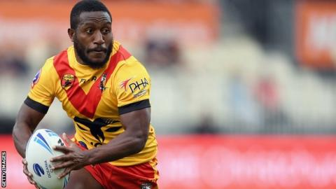 Watson Boas in action for PNG