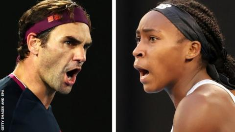 Australian Start: Coco Gauff, Roger Federer & Novak Djokovic in action thumbnail