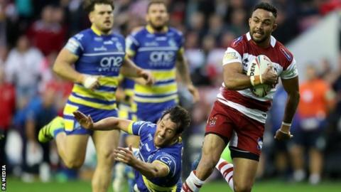 Bevan French took just 16 minutes to score his first Wigan try on his first start