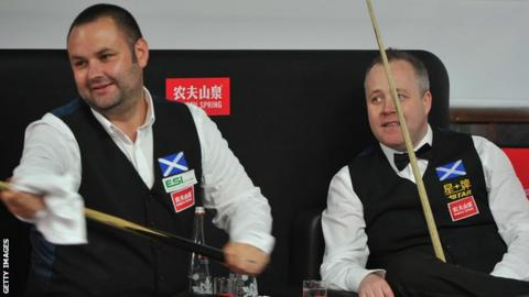 Stephen Maguire and John Higgins