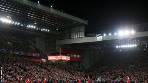 Liverpool against Atletico Madrid