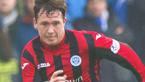 Danny Swanson played for St Johnstone on loan last season