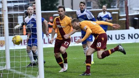 Louis Moult headed home the opener for Motherwell