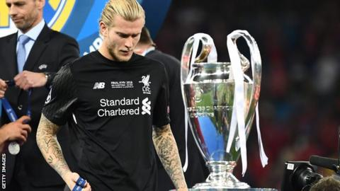 Liverpool goalkeeper Loris Karius after the Champions League final defeat by Real Madrid