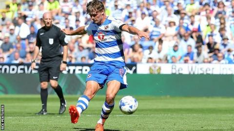 John Swift scores the first goal of the season for Reading