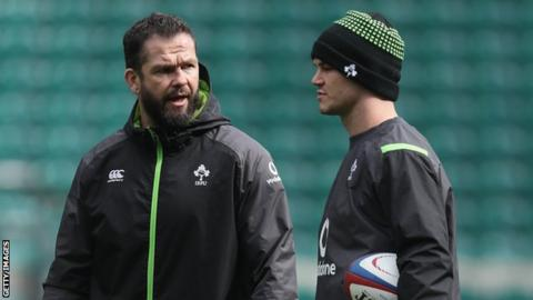 Andy Farrell and Johnny Sexton