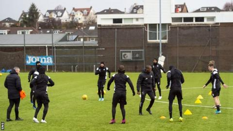 St Mirren's players have been put on furlough leave