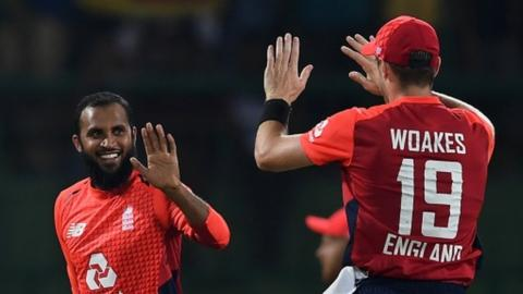 Adil Rashid and Chris Woakes
