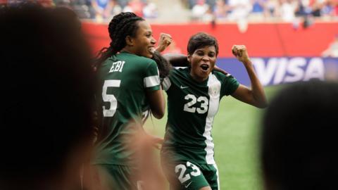Ngozi Ebere celebrates