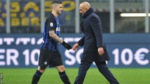 Mauro Icardi and Luciano Spalletti