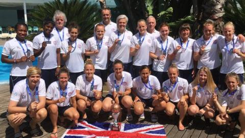 The GB team with their bronze medals from the World Cup
