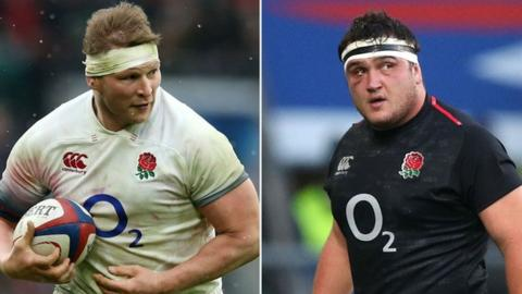 Dylan Hartley and Jamie George