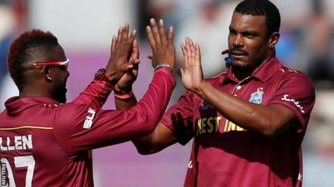 Shannon Gabriel celebrates with his team-mate
