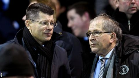 Neil Doncaster (left) with SFA president Allan McRae