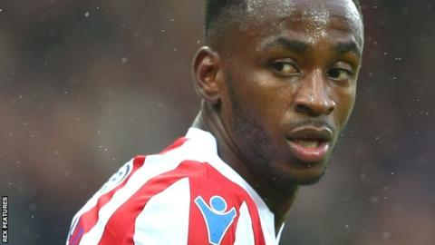 Saido Berahino in action for Stoke