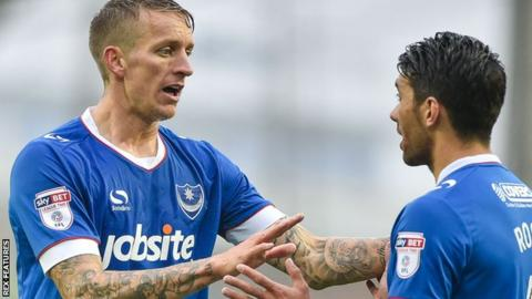 Portsmouth midfielders Carl Baker and Danny Rose