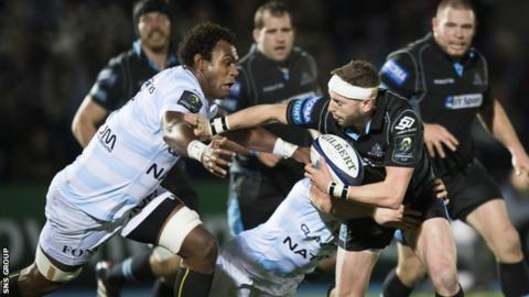 Finn Russell shone for Glasgow in their second win over Racing 92 in a week