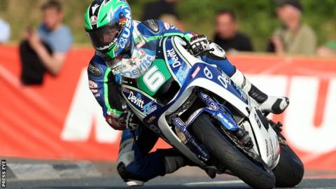Ivan Lintin at Quaterbridge during his Isle of Man Lightweight victory on Wednesday